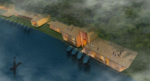 龙虎山风景区修建性规划:羞女岩鸟瞰图