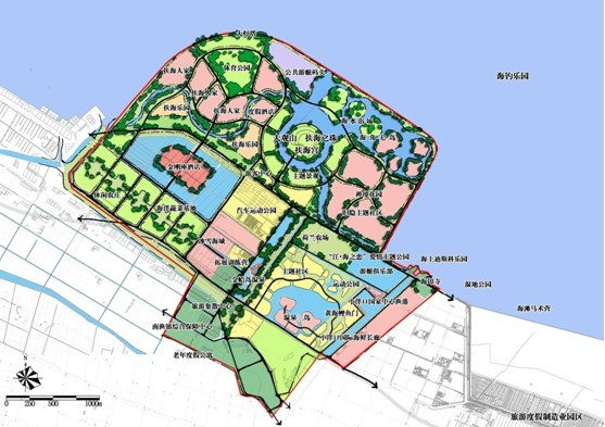 岛屿旅游设计平面图